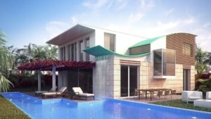luxurious house with a swimming pool pdm パシフィック