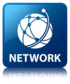 22231077 - network  global network icon  glossy blue reflected square button