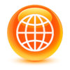 36067493 - world icon glassy orange button